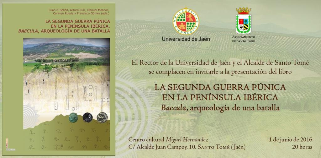Presentación del libro LA SEGUNDA GUERRA PÚNICA EN LA PENÍNSULA IBÉRICA. BAECULA, ARQUEOLOGÍA DE UNA BATALLA