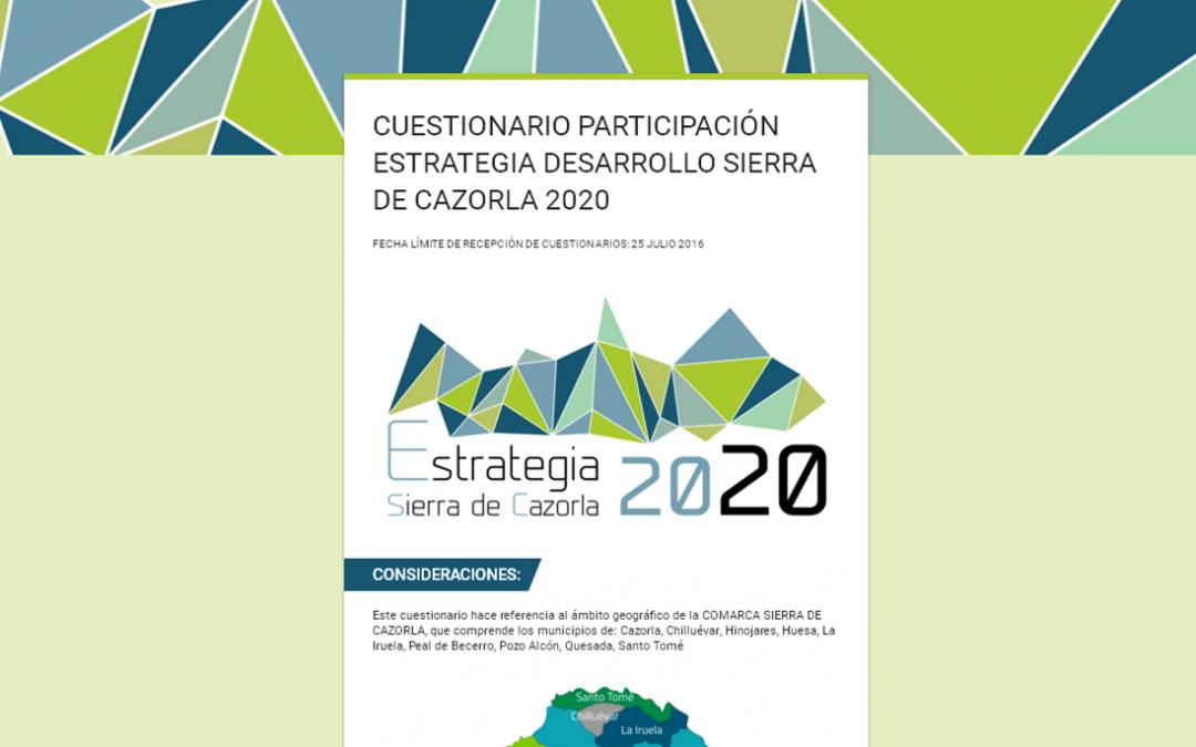 CUESTIONARIO ESTRATEGIA 2020 Sª CAZORLA